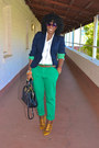 Gold-jcrew-shoes-navy-jcrew-blazer-white-jcrew-shirt-chartreuse-zara-pants