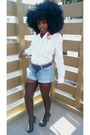 White-the-gap-shirt-light-blue-h-m-diy-shorts