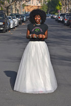 Princess Tulle Maxi skirt - vintage t-shirt - polka dot pumps