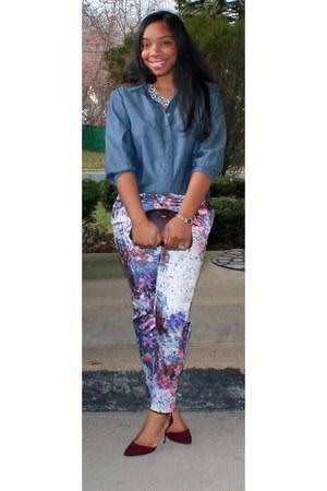 Forever 21 shirt - Zara heels - H&M pants