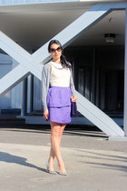 purple peplum Sugarlips dress - deep purple Salad bag - black Prada sunglasses