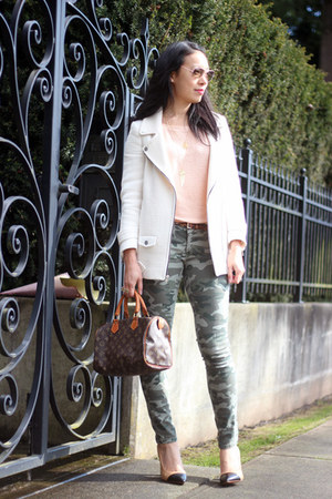 ivory Zara jacket - army green camouflage G21 jeans