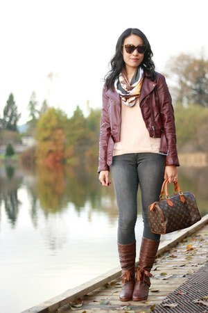 Inner Fire scarf - brown leather kensie boots