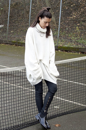 Maison Margiela for H&M jumper - acne boots - Zara pants
