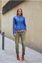 tawny heels Bimba & Lola boots - blue & other stories jacket