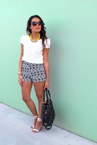 yellow Lovisa necklace - black Marc Jacobs bag - Ash To Gold shorts