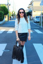 leather skirt sabo skirt skirt - suede knee high Roomys boots