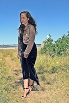 light brown killah jacket - black Mango heels