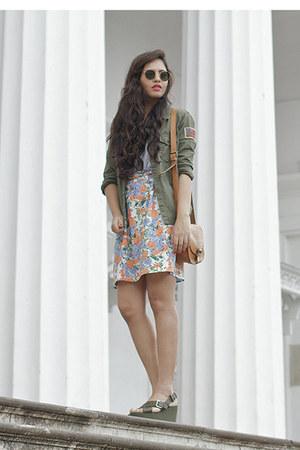 sky blue Local store skirt - carrot orange Local store skirt