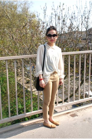 TK Maxx blouse - Miss Selfridge pants - Debenhams loafers