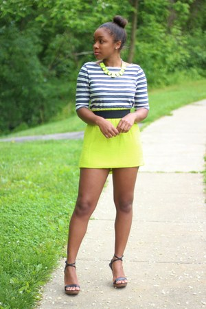JCrew top - Aldo heels - JCrew skirt - ann taylor necklace