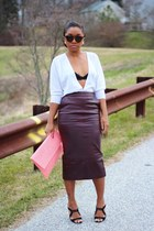 asos skirt - Love Cortnie bag - madewell sunglasses - Eberjey bra