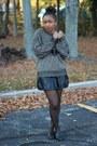 Thrifted-sweater-steven-by-steve-madden-flats-forever-21-skirt