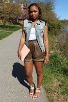 JCrew shorts - Love Cortnie bag - Gap belt - JCrew vest