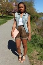 JCrew shorts - Love Cortnie bag - Gap belt - JCrew vest