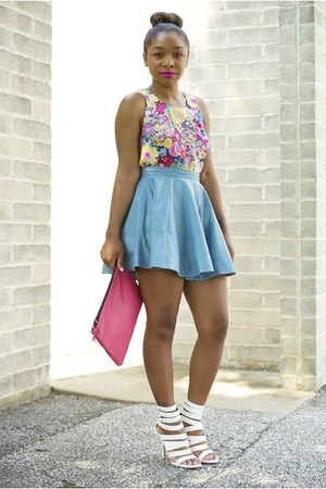 Love Cortnie bag - asos skirt - Forever 21 top - Aldo heels