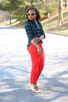 Aldo heels - Anthropologie sunglasses - JCrew pants - JCrew top