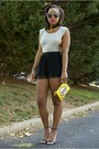 Love-cortnie-bag-h-m-shorts-quay-sunglasses-zara-heels