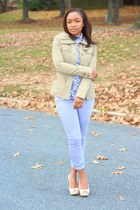 Anthropologie top - Gap jeans - H&M jacket - Aldo heels