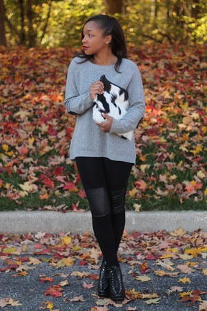 JCrew sweater - Love Cortnie bag - DIY pants - ann taylor heels