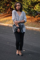JCrew sweater - Love Cortnie bag - bcbg max azria pants - Gap flats