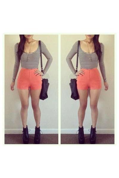 light orange shorts shoes unknown shorts