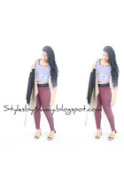 white crop top Wetseal top - light brown military jacket Dillards blazer