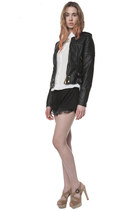 black Three Floor jacket - white Sed Etiam shirt - black Sed Etiam shorts