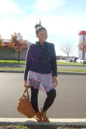 Forever 21 jacket - Forever 21 skirt - Spring shoes