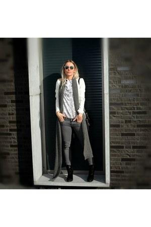 H&M bag - H&M blouse - H&M vest