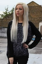 Carly - Black Animal Print Jumper