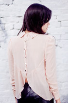 Blush Pink Button Back Blouse