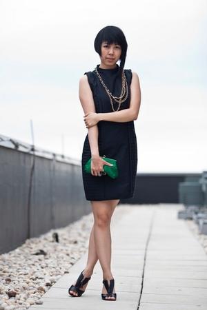 dress - necklace - purse - shoes