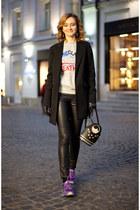 black Accessorize bag - silver Reebok sweatshirt - black Uniqlo pants