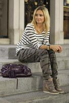 balenciaga bag - pull&bear top - Topshop sneakers - Terranova pants