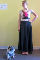 Melissa shoes - stella neptune top - ModClothcom skirt - vintage belt - ModCloth