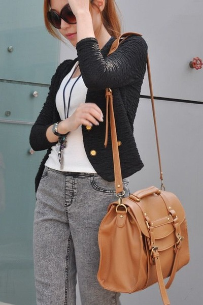 bronze leather like Target bag
