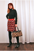 ruby red kate spade skirt - vintage accessories