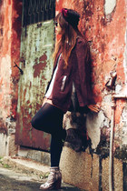 American Apparel scarf - Aldo boots - American Apparel blouse