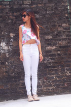 Topshop top - American Apparel jeans