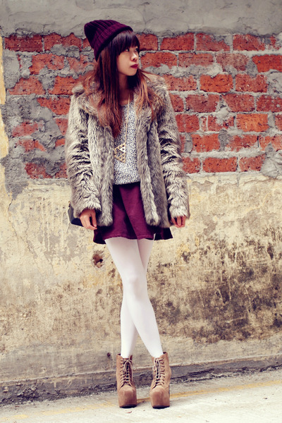 Forever 21 coat - Jeffrey Campbell boots - American Apparel sweater - Chanel bag