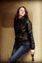 leather jacket jacket - buckles Mossimo boots - skinny jeans Rue 21 jeans