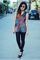 black galaxy DIY galaxy shirt shirt - black China leggings