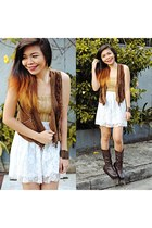 burnt orange fringe Halukay Ukay vest