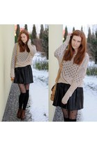 beige Stradivarius sweater
