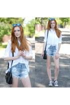 white Topshop shirt