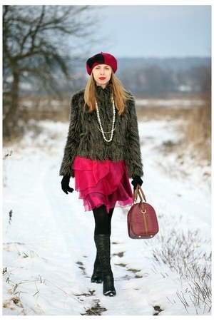 Solar hat - Quazi boots - Rinascimento dress - F&amp;F jacket - Parfois bag