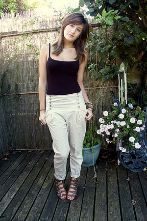 beige Topshop pants - brown Topshop shoes