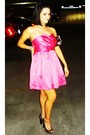 Pink-forever21-dress-brown-shii-shoes-brown-macys-purse