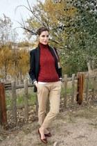 Burberry bag - tintoretto blazer - Burberry vest - Bimba y Lola flats